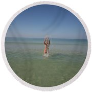 Everglades City Photography By Lucky Cole  952 Round Beach Towel