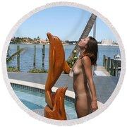 Everglades City Professional Photographer 368 Round Beach Towel