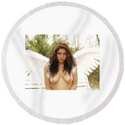 Everglades City Professional Photographer 4170 Round Beach Towel