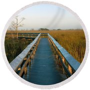 Everglades National Park Round Beach Towel