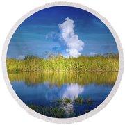 Everglades Smoke Round Beach Towel