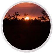 Everglades Sunset 1 Round Beach Towel