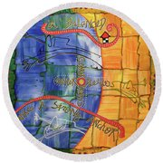 eVertigo Round Beach Towel