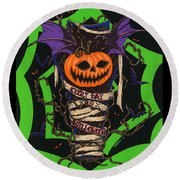 Every Day Is Halloween Round Beach Towel