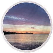 Every Morning Is Different - Toronto Skyline With An Awesome Cloudbank Round Beach Towel