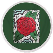 Every Rose Has Its Thorns Round Beach Towel