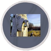 Every Time A Bell Rings... Round Beach Towel