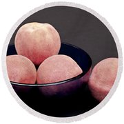 Everything Is Just Peachy Round Beach Towel