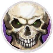 Evil Skull Round Beach Towel