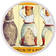 Evolution Of A Pitcher Round Beach Towel