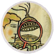 Examining  The  Federal Government Round Beach Towel