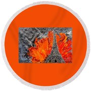Exciting Round Beach Towel