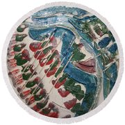 Exclamation - Tile Round Beach Towel