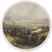 Exeter From Exwick, 1773 Round Beach Towel