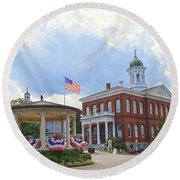 Exeter Town Hall Round Beach Towel