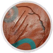 Exhale - Tile Round Beach Towel