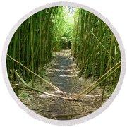 Exlporing Maui's Bamboo Round Beach Towel
