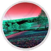 Exmoor In The Pink Round Beach Towel