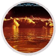 Exogatus  Round Beach Towel