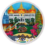 Exotic Bangkok Round Beach Towel by Lisa  Lorenz