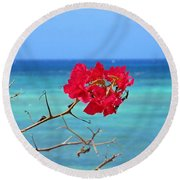 Exotic Flower Round Beach Towel
