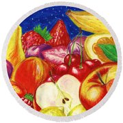 Exotic Fruts  Round Beach Towel