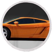 Exotic Lamborghini  Round Beach Towel