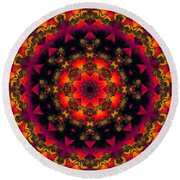 Exotic Nights Round Beach Towel