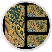 Exotic Repetitions Round Beach Towel