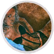 Expectation - Alexis Round Beach Towel