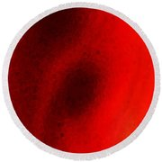 Experiment 2 Red White Black Round Beach Towel
