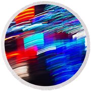 Exploded Lights Round Beach Towel