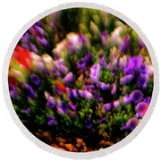 Exploding Flowers 2 Round Beach Towel