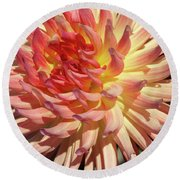 Exploding On The Scene Round Beach Towel