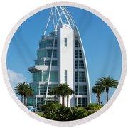 Exploration Tower Florida Round Beach Towel