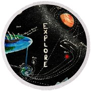 Explore And Discover Collector Edition Round Beach Towel