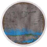 Explorer Gray Round Beach Towel