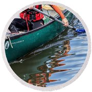 Exploring Along The Exeter Canal Round Beach Towel