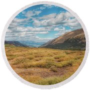 Exploring Guanella Pass Round Beach Towel