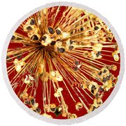 Explosion Enhanced Round Beach Towel