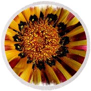 Explosion Of Color - Framed Round Beach Towel