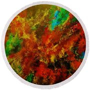 Explosion Of Colour Round Beach Towel