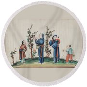 Export Gouaches On Pith Paper Round Beach Towel
