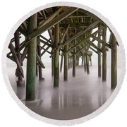 Exposed Structure Round Beach Towel