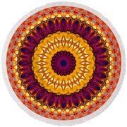 Expression No. 7 Mandala Round Beach Towel