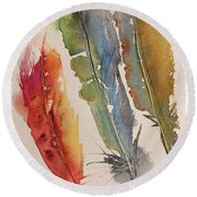 Feather Expressions Round Beach Towel