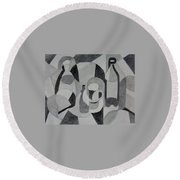 Extended Line Round Beach Towel by Jamie Frier
