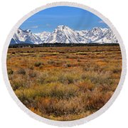 Extended Willow Flats Panorama Round Beach Towel
