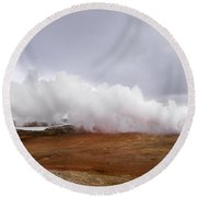Extreme Hot Spring Area Round Beach Towel