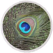 Eye  2 Round Beach Towel